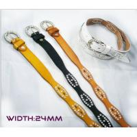 Wholesale wave shape leather belts with stone guangzhou manufactory from china suppliers