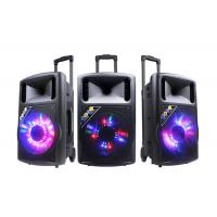 Wholesale Wireless Disco Light Rechargeable Trolley Speaker For Party / Bluetooth Dj Speakers from china suppliers