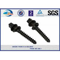 Wholesale ISO SGS inspected  Q235 35# 45# Railway Sleeper Spikes  Black Oxide Screws from china suppliers
