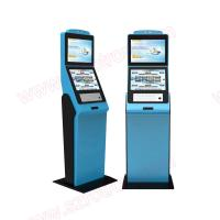 Wholesale High quality customized functional lobby Self service dual screens kiosk with RFID card reader and coin hoppers from china suppliers