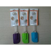 Wholesale Recycled Non-stick BBQ Colorful Silicone Spatula With Embossed Logo from china suppliers