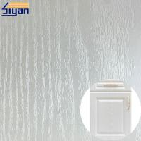 Buy cheap White wood grain foil PVC decorative film for furniture and kitchen cabinet from wholesalers