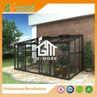 Wholesale 242 X 392 X 237CM Dark Grey Color 8mm Thick Polycarbonate Aluminum Greenhouse from china suppliers