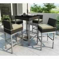 Wholesale Outdoor Rattan Furniture/5-piece Rattan Bar Set with KD Design, 5cm Cushion from china suppliers