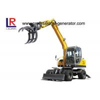 Wholesale Full Hydraulic Control 0.3CBM 8.3 Ton Mini Wheeled Excavator With Sugarcane Grapple from china suppliers