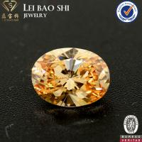 Wholesale AAA/AAAAA Grade Colored Oval shape brilliant cut faceted gemstone Cubic Zirconia in size 10*8mm from china suppliers