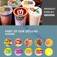 Buy cheap Heat Sealable Bubble Tea Cup Sealing Film Roll For Plastic Cup / Paper Cup from wholesalers