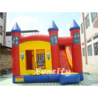 Wholesale Red Torch Inflatable Combo Bouncers With Slide Fire Retardant PVC Tarpaulin from china suppliers