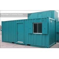 Wholesale Blue or Green Stainless Steel 20ft Shipping Container Home / House for Storage from china suppliers