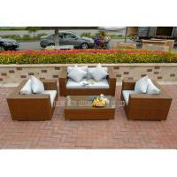 Wholesale Outdoor / Indoor Rattan Bistro Set 4 Piece Patio Table And Chairs Set from china suppliers