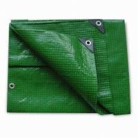 Wholesale green color pe tarpaulin for hay tarps and trailer cover from china suppliers