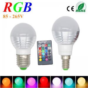Wholesale 3W RGB Lampada LED Bulb E27 85-265V RGB LED Lamp E27 220V 110V Spotlight Lamparas LED Light Bulb E14 Spot Luz Christmas from china suppliers