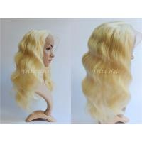 Wholesale 20 Inch Blonde Glueless Lace Front Human Hair Wigs With Body Wave from china suppliers