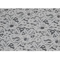 Eco-Friendly Nylon Elastic Lace Fabric Green / Floral Lace Fabric