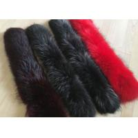 Wholesale Dyed Genuine Raccoon Black Real Fur Collar Real Warm For Men Jacket / Coat from china suppliers