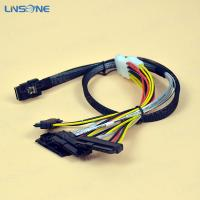 Wholesale Mini SAS 36Pin Male to SAS 22Pin(7+15pin) Female and Advanced 4-Pin Power Cable from china suppliers