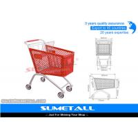 Wholesale Classic 125L Plastic Shopping Cart With Wheels , Grocery Store Shopping Carts from china suppliers