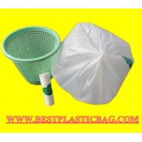 Wholesale HDPE LDPE tall kitchen garbage bags drawstring trash bags draw tape rubbish bags from china suppliers