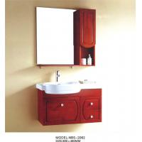 Wholesale Solid Wood Bathroom Cabinet painted Soft closing system 800 * 160 * 800mm mirror size from china suppliers
