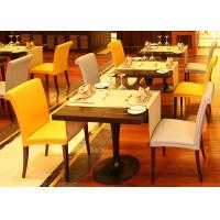 Wholesale Wood Restaurant Furniture Set Modern Dining Room Tables Black Metal Legs from china suppliers