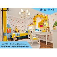 Wholesale Strippable Pink Cartoon Cake Pattern Non Woven Kids Home Wallpaper from china suppliers