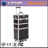 Wholesale Classic Black Beauty Trolley professional makeup trolley case from china suppliers