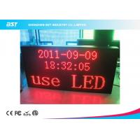 Wholesale P7.62 Matrix Red Indoor Led Moving Message Sign With Aluminum Frame / USB Control from china suppliers