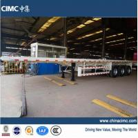 Wholesale tri-axle 40ft flat trailers for sales in Ghana from china suppliers