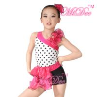 Wholesale Children'S Dance Costumes Black Polka Dots Top Biketard Ballet Dance Costume from china suppliers
