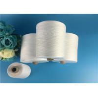 Quality Eco - Friendly 100 Spun Polyester Yarn S Twist And Z Twist Yarn Raw White Bright for sale