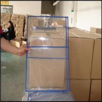 Wholesale Transparent pvc ticket/file holder without zip, PVC file bag, plastic document bags A4 paper from china suppliers