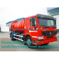 Wholesale Vacuum Dirt Sewage Suction Truck Cleaning Vehicle Garbage Truck 6M3 sinotruck howo red or yellow from china suppliers