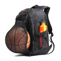 16 Inch Polyester Sporty Backpacks Computer Laptop Football Basketball Black