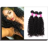 "Wholesale Deep Curly Unprocessed Human Hair Extensions Clean And Soft Quality 10""-30"" from china suppliers"