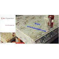 Quality PVC Table Cloth --RNPT Crystal lace table cloth ---TC285-T003 gold table cloth for sale