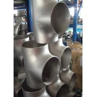 Quality Carbon Steel / Stainless Steel Butt Weld Fittings Steel Pipe Tee with ISO9001 Approvals for sale