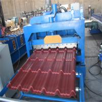 Wholesale Customized color low noice glaze tile metal roof roll forming machine from china suppliers