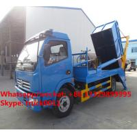 Wholesale Factory sale dongfeng 4*2 LHD 5m3 hydraulic hookling arm garbage truck, HOT SALE! dongfeng skid bon wastes vehicle from china suppliers