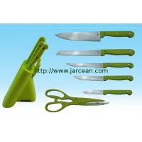 Wholesale kitchen stailess steel knife set with block from china suppliers