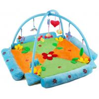 Wholesale Lovely Flower Blue Baby Play Gyms , Indoor Play Gyms For Toddlers from china suppliers