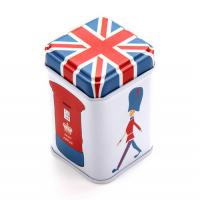 Wholesale 75x75x119mm Mini Printed Square Tin Box For Coffee And Tea With Embossing from china suppliers
