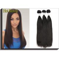 Wholesale Black Remy Virgin Human Hair Extensions , Peruvian Straight Hair from china suppliers