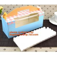 Wholesale Custom artpaper handle cake box with PVC window, Sweet cake box with handle, cake box with window from china suppliers