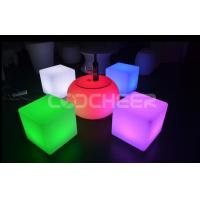 Wholesale Modern Seat Coffee Table Led Chair  Illuminated Cube Furniture fireproof from china suppliers