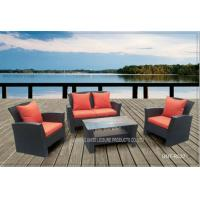 Wholesale Comfortable Outside Patio Seating Sets With Cushion PE Wicker Modern Style from china suppliers