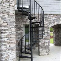 Wholesale Exterior stainless steel spiral staircase design /prefabricated outdoor metal stairs from china suppliers
