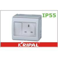 Wholesale Flat Pin 13A IP55 Weatherproof Switch Socket 250V With British Standard from china suppliers