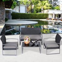 cheap Garden PE rattan sofa sets outdoor wicker sofa patio furniture of item