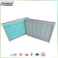 Buy cheap Aluminum Frame Panel Green Fiberglass Air Filters Home Air System from wholesalers