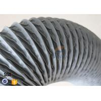 Wholesale PVC Coated Fiberglass Fabric Flexible Air Duct Grey Waterproof 200MM 5M 260℃ from china suppliers